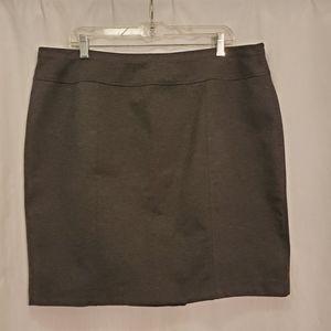 Ellen Tracy Jersey Knit Charcoal Grey Skirt NWOT